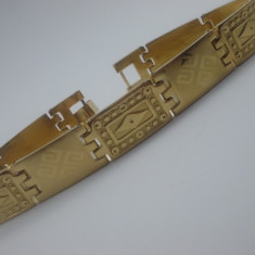 Bratara Barbati placata aur 18k cod 1610BB002 - Bratara aur, Culoare Aur: Galben