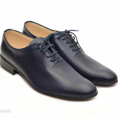 Pantofi barbati piele naturala bleumarin casual-eleganti cod P65 - Editie de LUX, Marime: 37, 38, 39, 40, 41, 42, 43, 44, Culoare: Alb, Maro, Negru
