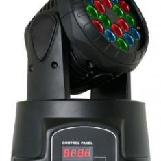 Proiector lumini disco 18 leduri 3W Moving Head Led - Laser lumini club