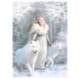 Tablou Canvas cu lupi Gardienii iernii