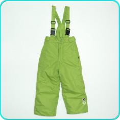 Pantaloni salopeta, grosi, impermeabili, OKAY _ baieti, fete | 3-4 ani | 98-104, Marime: Alta, Culoare: Verde, Unisex