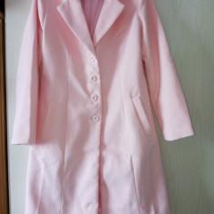 Palton dama roz elegant model deosebit, Marime: 42