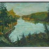 Mathilda Ulmu (1917-2007) * Ulei pe carton - Pictor roman, Peisaje, Altul