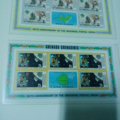 Blocuri Grenada Grenadines UPU 1974 - Timbre straine, Nestampilat