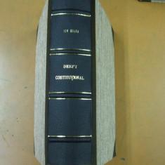 Ion V. Gruia Curs de drept constitutional Volumul I Curs litografiat 1943 - Carte Drept constitutional