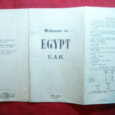 Ghid Turistic si Harta Turistica a Egiptului 1959