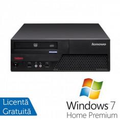Lenovo ThinkCentre M58p Desktop, Intel Core 2 Duo E8400, 3.0Ghz, 4Gb DDR3, 250Gb HDD, DVD-RW + Windows 7 Home Premium - Sisteme desktop fara monitor Ibm