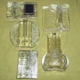 Lot cinci soliflore sticla masiva - soliflora (4) - Vaza sticla