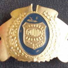 Emblema din tabla Politia Româna post decembristă - Uniforma militara, Marime: 30, Culoare: Argintiu