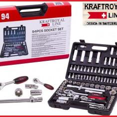 Trusa Scule-KRAFTROYAL-Professional-CR/V-Chei/Tubulare/Clichet/Biti-94PCS