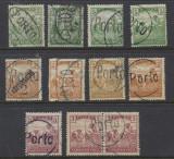1919 Ungaria 11 timbre seceratori sursarj local Porto folosite si in Ardeal