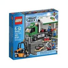 Lego City 60020 Camion de transport Cargo Truck TIR Motostivuitor Muncitori NOU