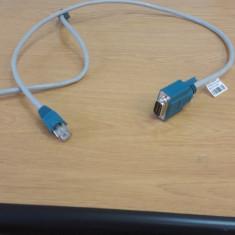 Cablu serial la retea, RS232 la RJ45 - Cablu retea
