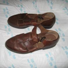 Pantofi sanda piele - Sandale barbati, Marime: 40, Culoare: Maro