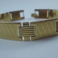 Bratara Barbati inox placata aur 18k cod 1610BB005 - Bratara placate cu aur