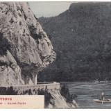 #1827- Romania, Orsova, carte postala circulata 1906: Cazane, barca, Fotografie