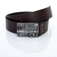 Curea Calvin Klein din piele naturala - Curea Barbati Calvin Klein, Marime: 100cm, 105cm, 110cm, 115cm, 120cm, 125cm, 130cm, Culoare: Din imagine, curea si catarama