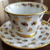 Cana, canita cu farfurie, farfurioara, frantuzeasca, cafea sau ceai, Decorative
