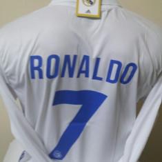 BLUZA CU MANECA LUNGA RONALDO REAL MADRID MARIMI S, M, L, XL - Tricou echipa fotbal, Marime: L, S, Culoare: Din imagine