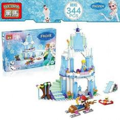 JOC DE CONSTRUCTIE DIN PIESE TIP LEGO COMPATIBILE 100%, CASTELUL FROZEN 343 PIESE - Set de constructie