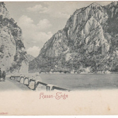 Romania, Orsova, carte postala necirculata: Stramtoarea Cazane - Carte Postala Oltenia pana la 1904, Fotografie