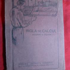 Carte Tehnica - Rigla de Calcul - Descriere si Utilizare -1930