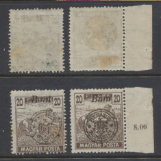 RFL 1919 ROMANIA Oradea eroare seceratori 20 bani sursarj uleios + bonus - Timbre Romania, Nestampilat