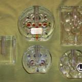Lot cinci soliflore sticla masiva - soliflora (6) Walther design - Vaza sticla