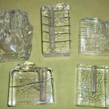 Lot cinci soliflore sticla masiva - soliflora (1) - Vaza sticla