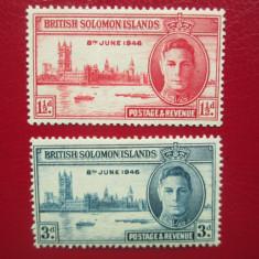 TIMBRE ANGLIA/COLONII SOLOMON ISLANDS, Nestampilat