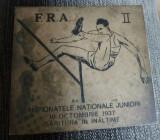 Medalia campionatele nationale de juniori 10 octtombrie 1937