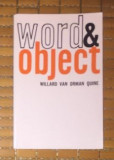 Word and Object  / Willard Van Orman Quine