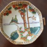 Bomboniera, platou, centru masa portelan pictat manual, Decorative