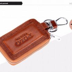 Port chei auto din piele naturala - POLO VICUNA