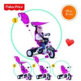 Tricicleta 3 In 1 Charisma Roz - Tricicleta copii Feber