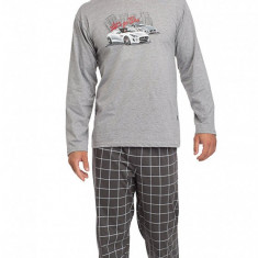 Pijama barbati - Cornette - art 124-40 Let's go - Pijamale barbati, Marime: S, Culoare: Gri