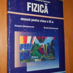 FIZICA CLASA IX-a - CLEOPATRA SI NICOLAE GHERBANOVSCHI - Culegere Fizica, Niculescu