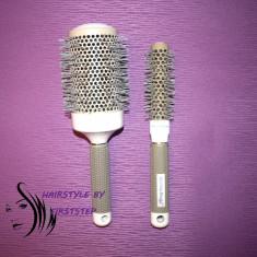 Set perii ceramice profesionale coafor kit piepteni frizerie perie ioni par - Perie de par