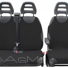 Huse scaune auto tip maieu pentru masini tip VAN 2+1, din bumbac, culoare Graphite - Husa scaun auto