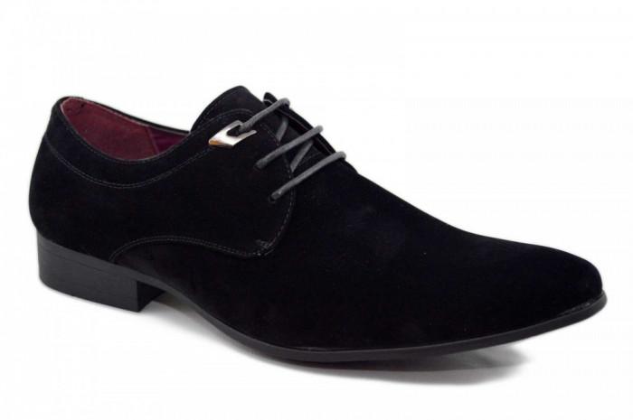 Pantofi barbatesti negri - OneMan foto mare