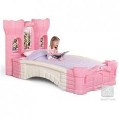 Patut Pentru Fetite - Palatul Printesei - Pat tematic pentru copii, Roz