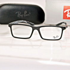 Rama de ochelari de vedere Ray Ban RB 8902 F C2 - Rama ochelari Ray Ban, Unisex, Negru, Dreptunghiulare, Plastic, Rama intreaga