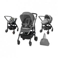 Carucior Trio Loola Excel Concrete Grey - Carucior copii 3 in 1 Bebe Confort