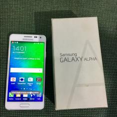 SAMSUNG ALPHA 32GB ALB CUTIE ACCESORII - Telefon mobil Samsung Galaxy Alpha, Neblocat, Octa core