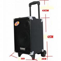 BOXA KARAOKE TROLLER PE ROTI CU MIXER,STICK USB,BLUETOOTH,MICROFON BONUS!