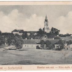 #1841- Romania, Sacuieni, Szekelyhid cp. necirc. 1928: Biserica rom.-catolica