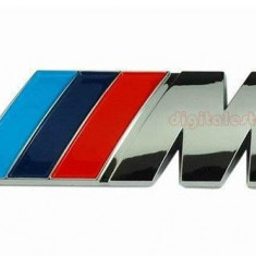 Emblema spate BMW M metalica negru - Embleme auto Autofren seinsa, 3 cupe (E92) - [2006 - 2013]