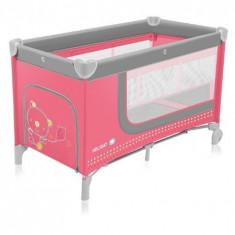 Patut Pliabil Cu 2 Nivele Holiday 02 Pink - Patut pliant bebelusi Baby Design
