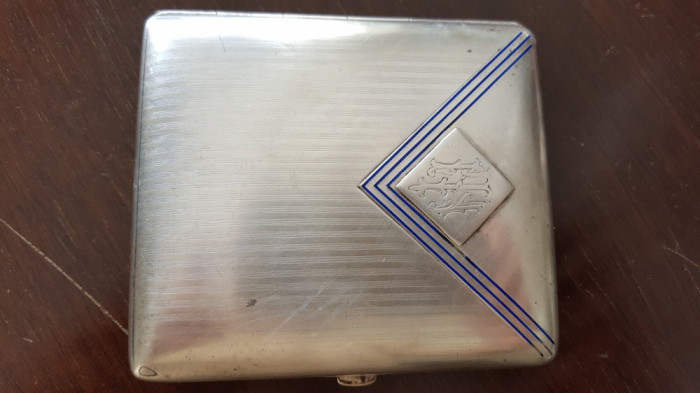 Tabachera argint 100% originala, superba, anul 1900