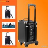 BOXA KARAOKE TIP TROLER PE ROTI,MIXER,MP3 PLAYER USB,BLUETOOTH, +MICROFON.